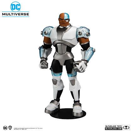 "CYBORG  - DC Multiverse - TEEN TITANS Animated Series - Mcfarlane Toys 7"""
