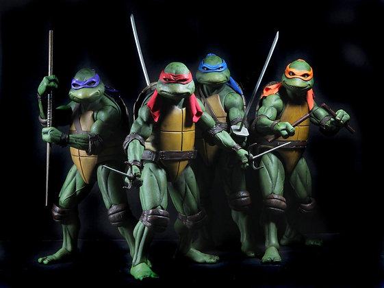 "Teenage Mutant Ninja Turtles TMNT (1990) - PACK de 4 figuras de 7"" NECA"