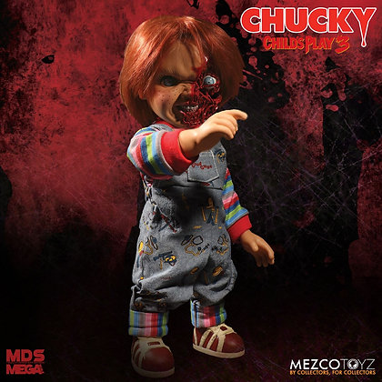 CHUCKY Child's Play 3 Mezco Designer Series Talking Pizza Face