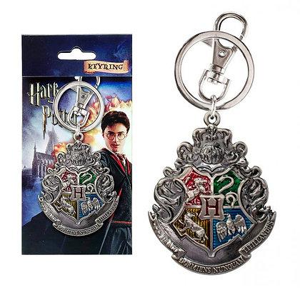 HOGWARTS Harry Potter Logo Color Llavero metálico MONOGRAM