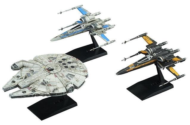 RESISTANCE VEHICLE SET Model Kit 1/144 & 1/350 Star Wars BANDAI
