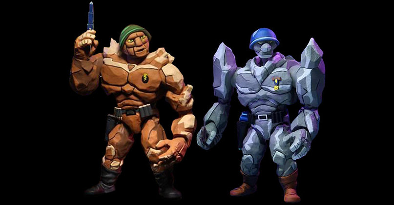 """Tragg & Grannitor 2-Pack - TMNT Cartoon Series 4 - Exclusive Target - NECA - 7"""""""