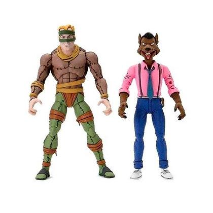 RAT KING VS VERNON - TMNT CARTOON - PACK NECA