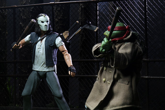 "Casey Jones & Raphael in Disguise - TMNT Movie 1990 -  2 pack - 7"" NECA"