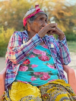 Elderly Woman from a Native Tribe in Uruguay