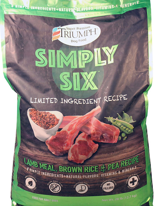 Triumph Simply Six Lamb and Brown Rice 2 sizes