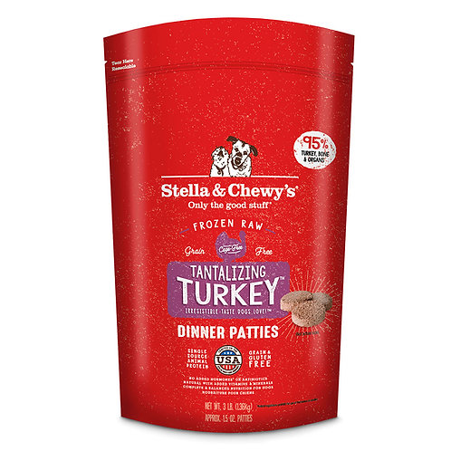 Stella and Chewy's Tantalizing Turkey Frozen Dinner Patties 6 lbs.