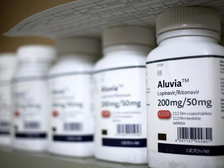 Комбинация препаратов лопинавир и ритонавир неэффективна при лечении COVID-19.