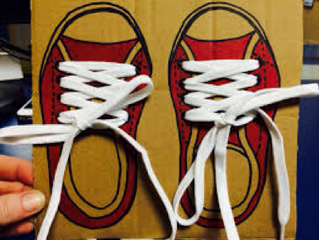 SKILLS FOR SCHOOL- tying shoe laces.