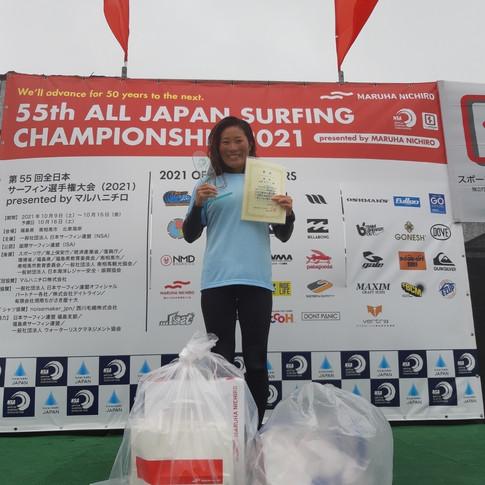 第55回全日本サーフィン選手権大会 LB WOMEN 田原 ありい 優勝 1.jpeg