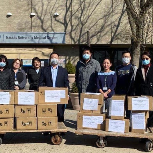 Chinese-American community donates more than 10K masks to LI hospital