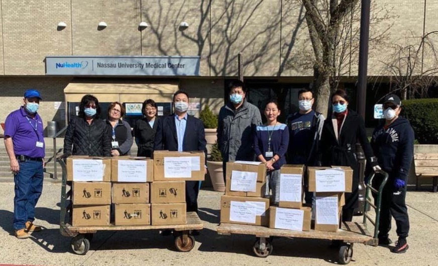 Chinese-American community donates more than 10K masks to LI hospital