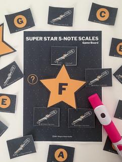 Super Star 5 note Scales