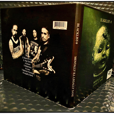 Blacklist 9 CD back cover band photo