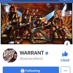 Warrant Facebook Band Page