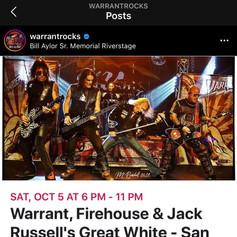 Warrant Concert Promo
