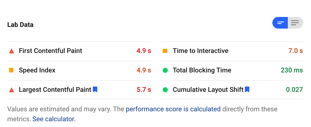 Duda Mobile page load speed graph from Google Page Speed Insights