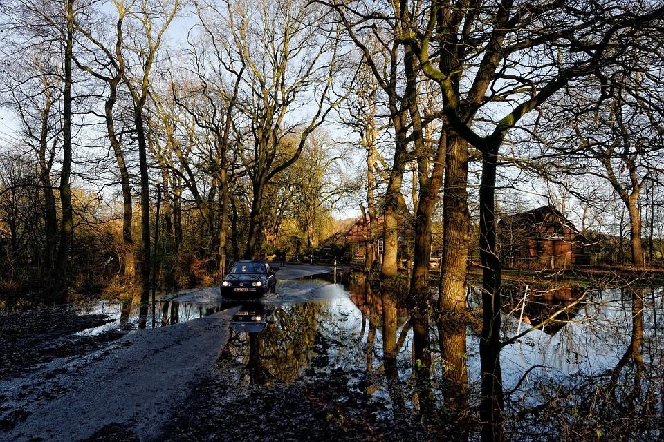 Área inundada após temporal