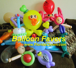 Balloon Favors www.FloridaClown.com