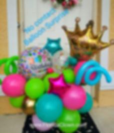 Surprise balloon bouquet delivery_