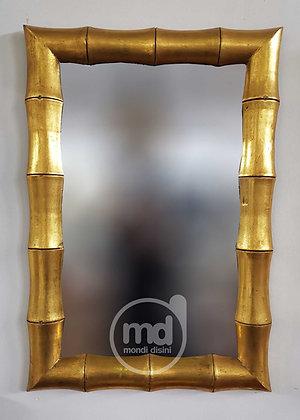 Espejo de madera Bambú 100X70 Oro