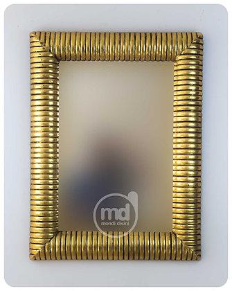 Espejo Bambú Espiral 100x70 Oro