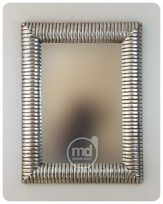 Espejo Bambú Espiral 100x70 plata