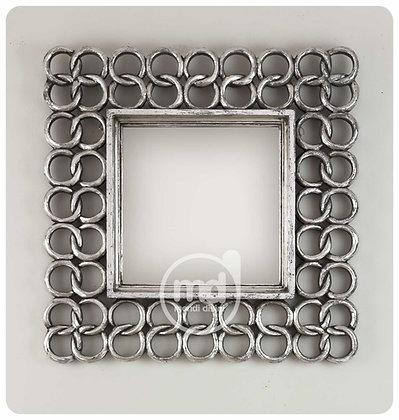 Espejo Square Chain 50x50 Plata