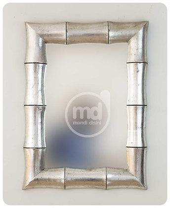 Espejo Bambú Garis 60x80 Plata
