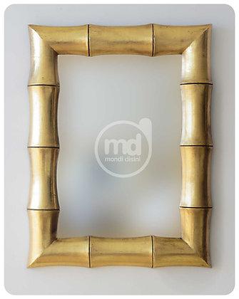 Espejo Bambú Garis 60x80 Oro