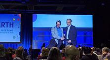 AAAS Fellows award photo with Steve Chu,