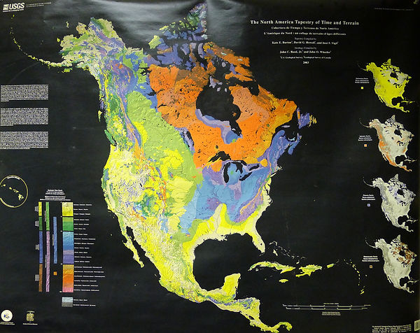 USGS Map: The North American Tapestry of Time & Terrain