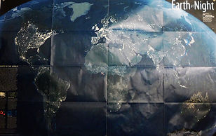 National Geographic photgraphic map of Earth at Night