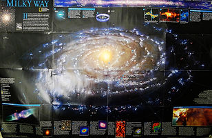 National Geographic photographic map of the Milky Way