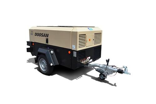 Mobiele Compressor: Doosan 5 tot 7m³/min - 7-10 bar met nakoeler