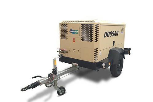 Mobiele Compressor: Doosan 10 tot 12m³/min - 7 tot 10 bar met nakoeler