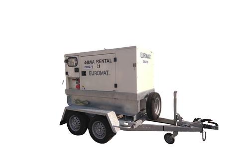 Stroomgroep 44 kVA - Op Aanhangwagen