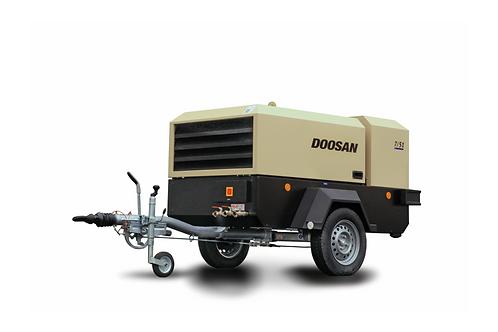 Mobiele Compressor: Doosan 5m³/min - 7 bar met nakoeler