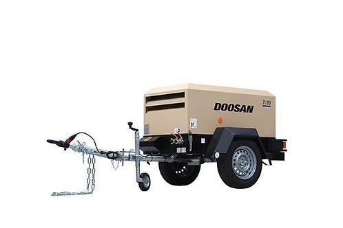 Mobiele Compressor: Doosan 2m³/min - 7 bar