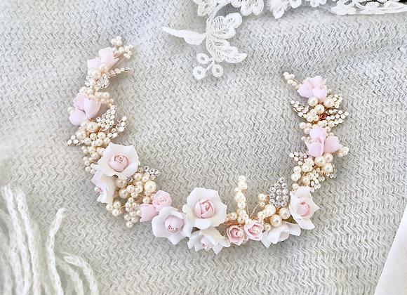 PRIMROSE Vine: Blush Floral Head Adornment