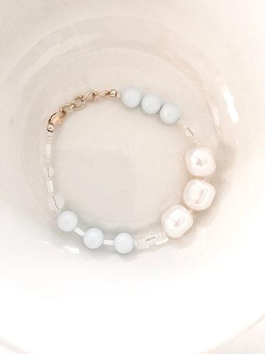 BARELY BLUE Beaded Bracelet