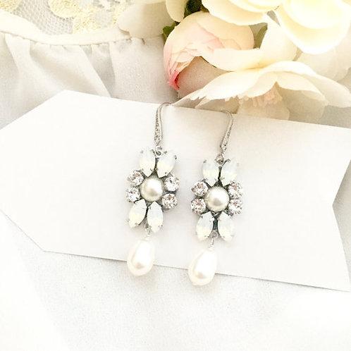 ERYNN: Swarovski Pearl Bridal Earrings