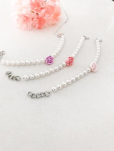 PETITE FLEUR: Little Flower Pearl Bracelet