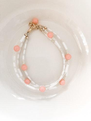 3 STRAND CORAL PINK Bracelet