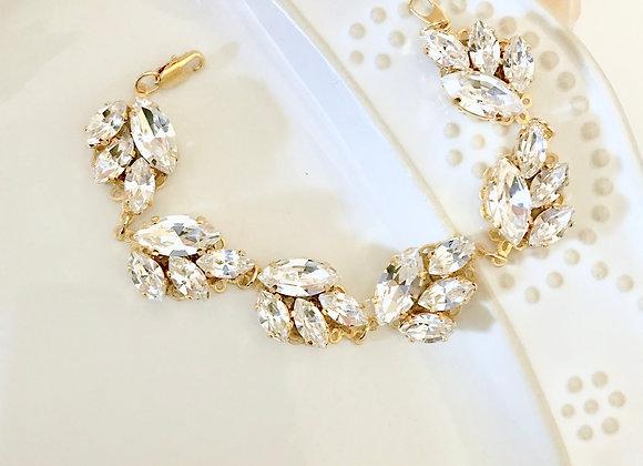 SPRIG: Swarovski Leaf Bridal Bracelet