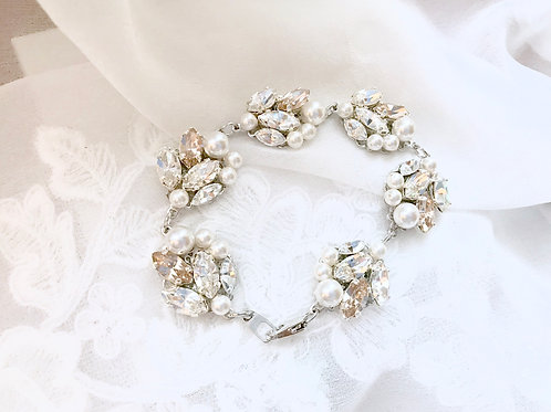 KENNA: Champagne Accent Jeweled Bracelet