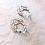 Thumbnail: FAYE: Champagne Floral Hoop Earrings