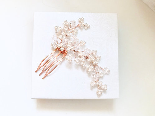 WHIMSY: Pearl Baby's Breath Inspired Bridal Comb