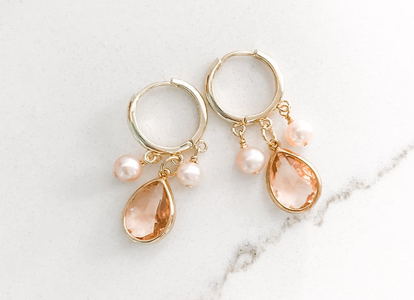 BLUSHIN' ROMANTIC Hoops in gold vermeil