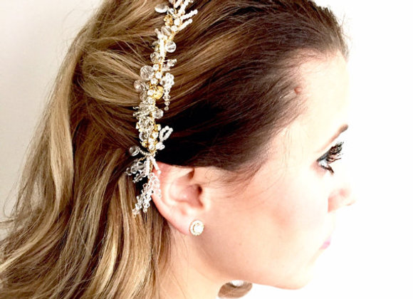 FIONA: Swarovski Crystal Bohemian Collection Hair Piece